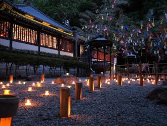 本殿の竹灯篭の様子