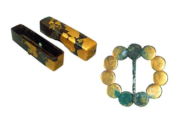 金漆信盒 金饰针
